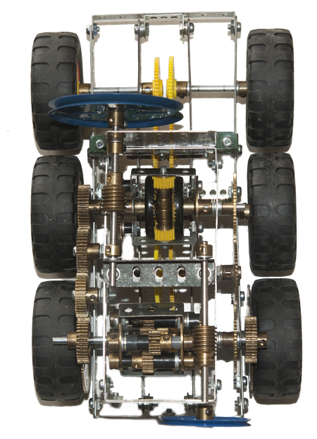 meccano6 wheel drive vehicle